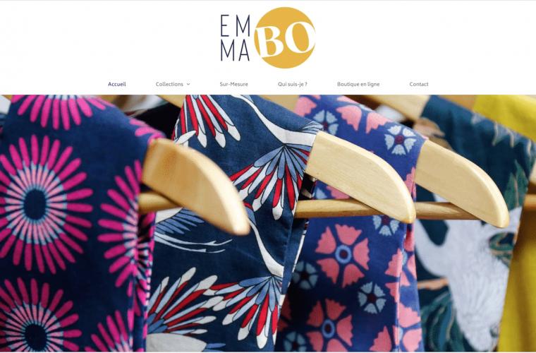 réalisation site emma bo couture