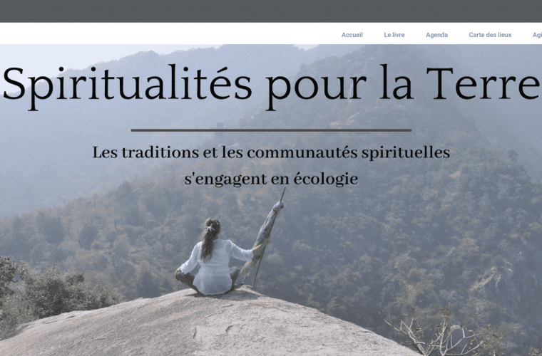 réalisation site spiritualités pour la terre