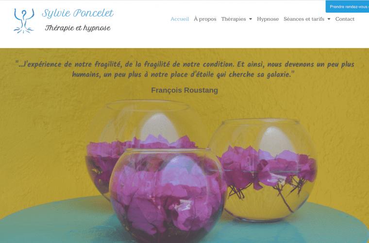 réalisation site Sylvie Poncelet hypnotherapeute